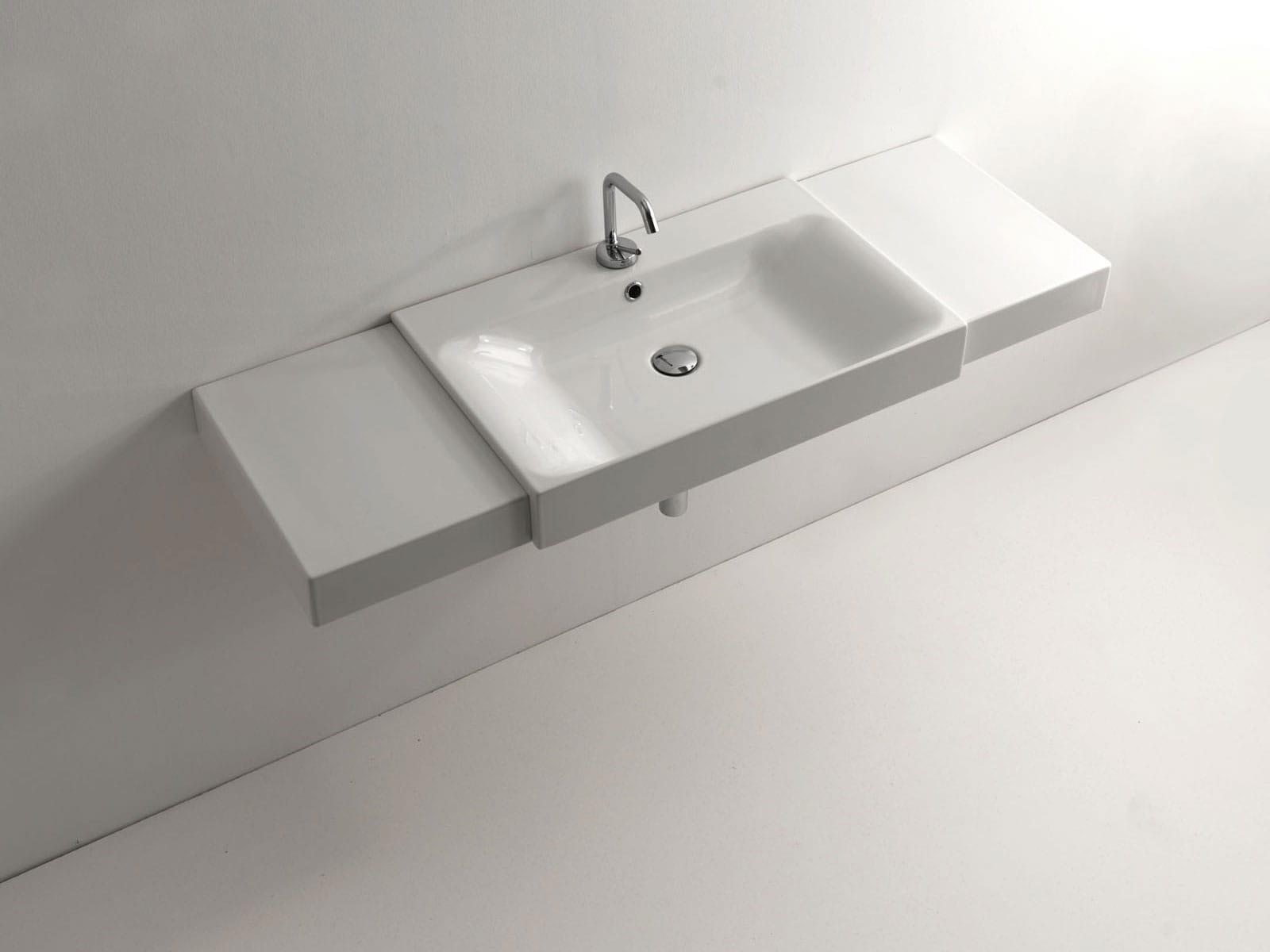 umywalka semincasso kerasan cento 50 x 45 cm domoshop. Black Bedroom Furniture Sets. Home Design Ideas
